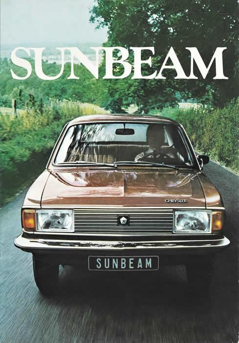 chrysler sunbeam 1977 sales brochure cover