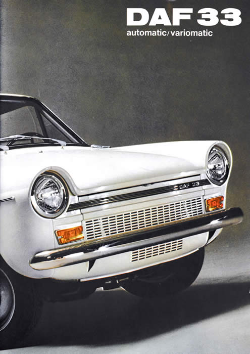 daf 33 1970 sales brochure cover