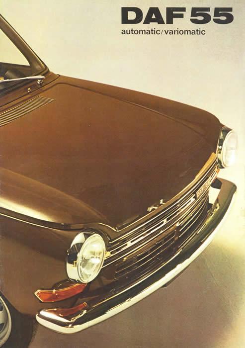 daf 55 1971 sales brochure cover