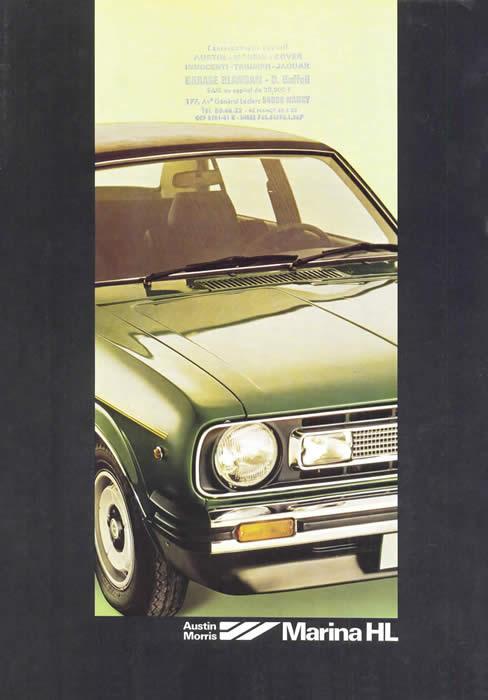 morris marina 1300 hl 1979 sales brochure cover