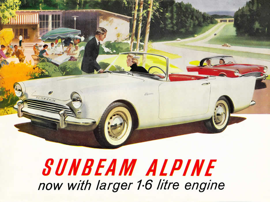 sunbeam alpine 1963 sales brochure cover