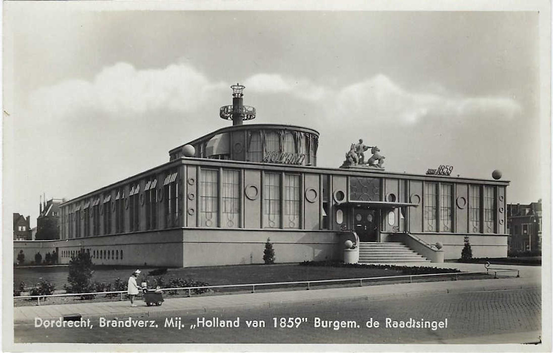 dordrecht-1939 postcard - de holland of 1859 building 01