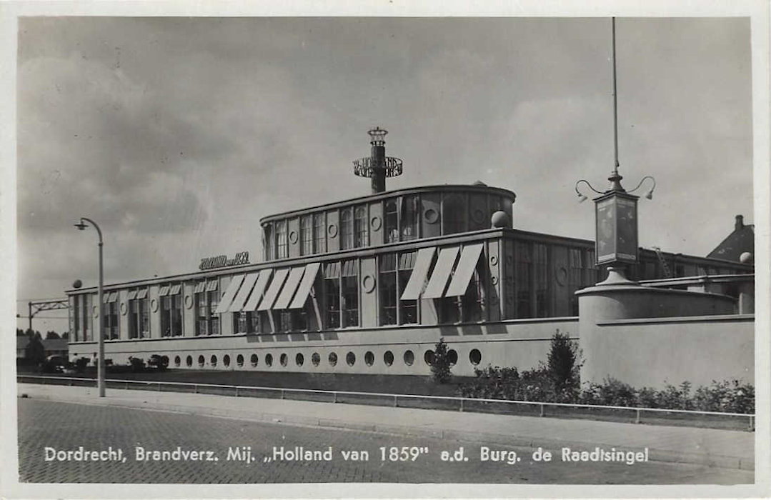 dordrecht-1939 postcard - de holland of 1859 building 02