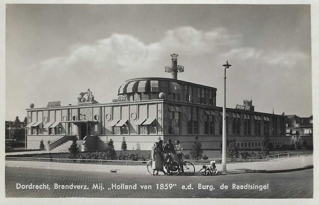 dordrecht-1939 postcard - de holland of 1859 building  04