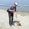 cleaning the beach on Ameland june 2021
